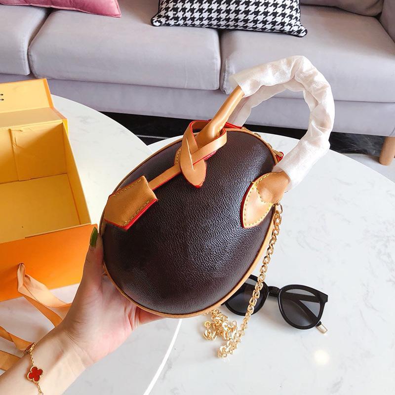 flor impressão clássico mulheres ovo de dinossauro única sacos de ombro crossbody senhoras de couro reais de corrente oval totes bolsas de pacotes bolsa