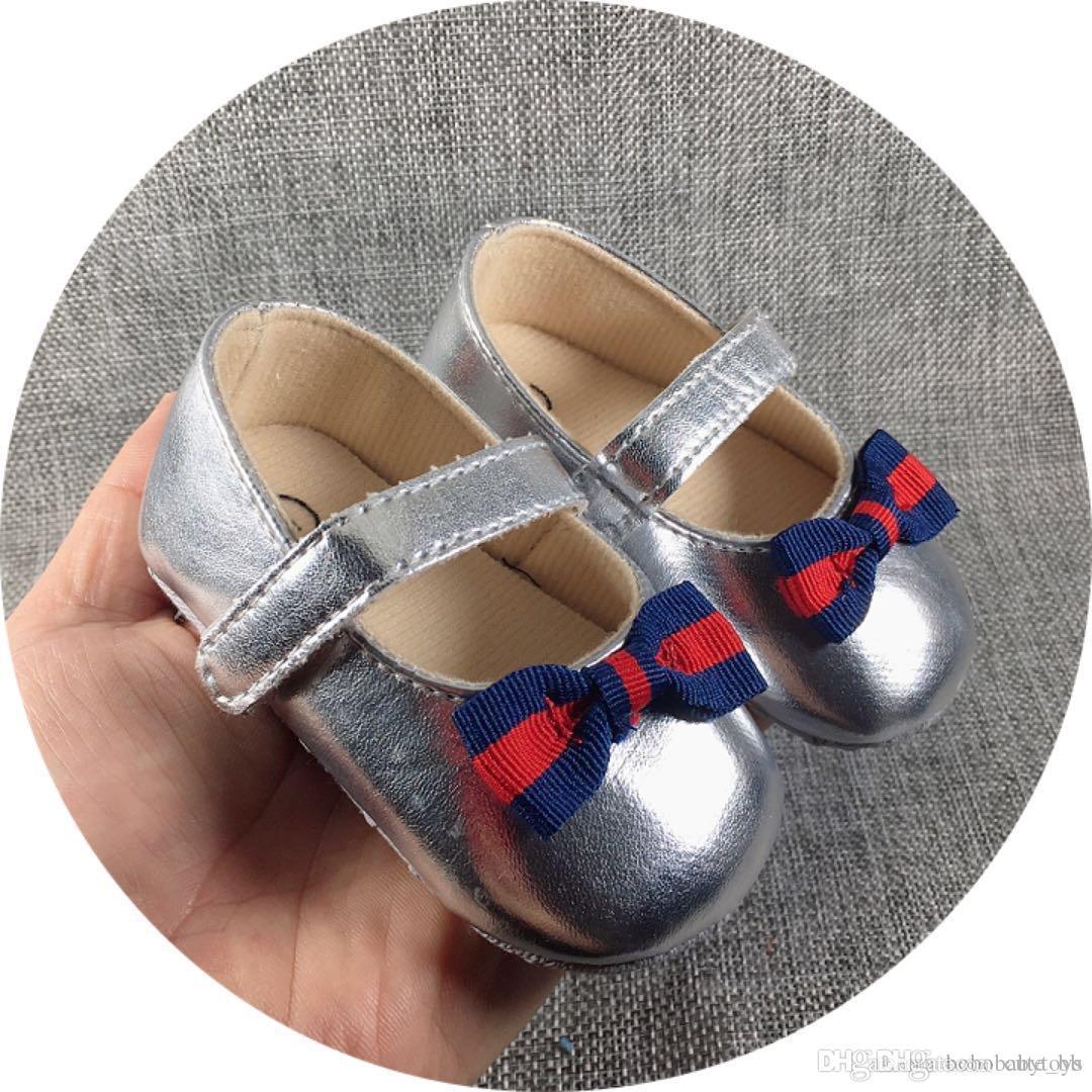 Chaussures bébé nouveau-nées Garçons Filles Motif Premiers Walkers Enfants Enfants Enfants Baskets PU 0-18 mois Prewalker Printemps Automne B103