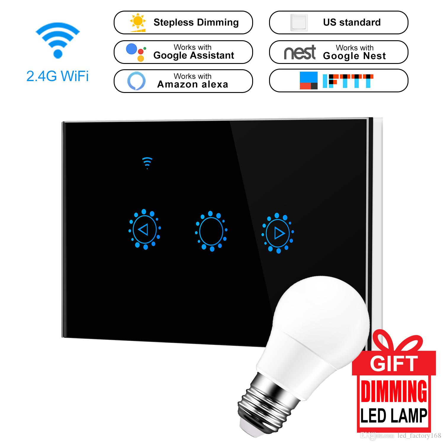 Smart WIFI Wall Switch Duplex Receptacle Switch Wireless In-Wall Plate Socket Compatible with Alexa Echo&Home work With Amazon Alexa Google