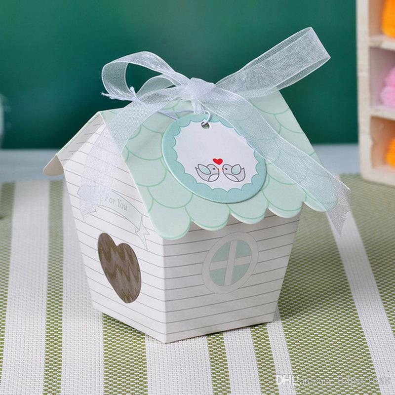 Kısa Aşk Yuvası Kuş Evi Bebek Şeker Kutusu Nikah Şekeri Kutuları Düğün Favor Hediye Kutusu Çikolata Kutusu Parti Dekorasyon