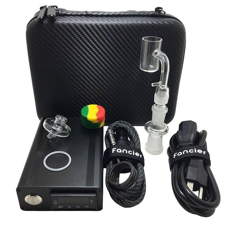 Fancier Enail E-Nail Banger E Quartz Nail 20MM 25MM 25 MM Electric Dab Nail Box Kit Temperature Controller Rig glass Bongs
