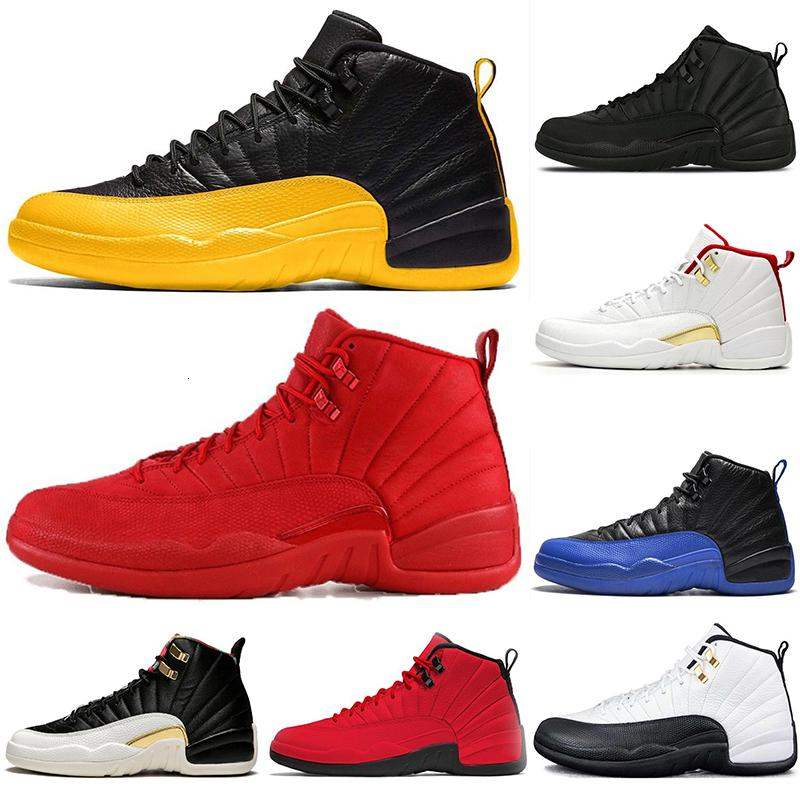 Hot Air Jordon Retros 12 12s Università oro pallacanestro Scarpe Uomo Fiba Gioco Reale Palestra Red Bulls Taxi Mens Trainers Sport Sneakers