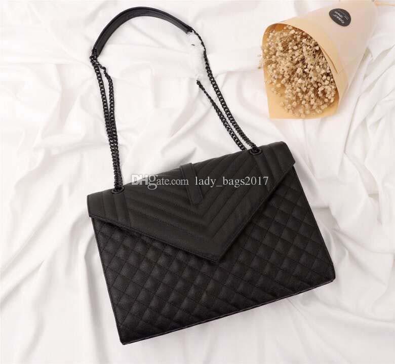Neueste Classic Designer-Handtaschen echtes Leder-Frauen-Ketten-Schulter Handtasche Clutch Tasche Messenger Bag Umhängetasche Handtasche Einkauf Totes