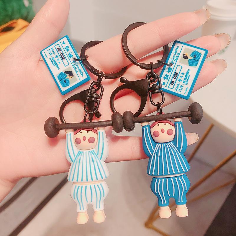 Anahtarlık Yaratıcı Man Anahtarlık Çanta Halter Kadınlar Anahtarlık Zinciri Pantolon için kolye Çocuk Tutucu Mücevher Silikon