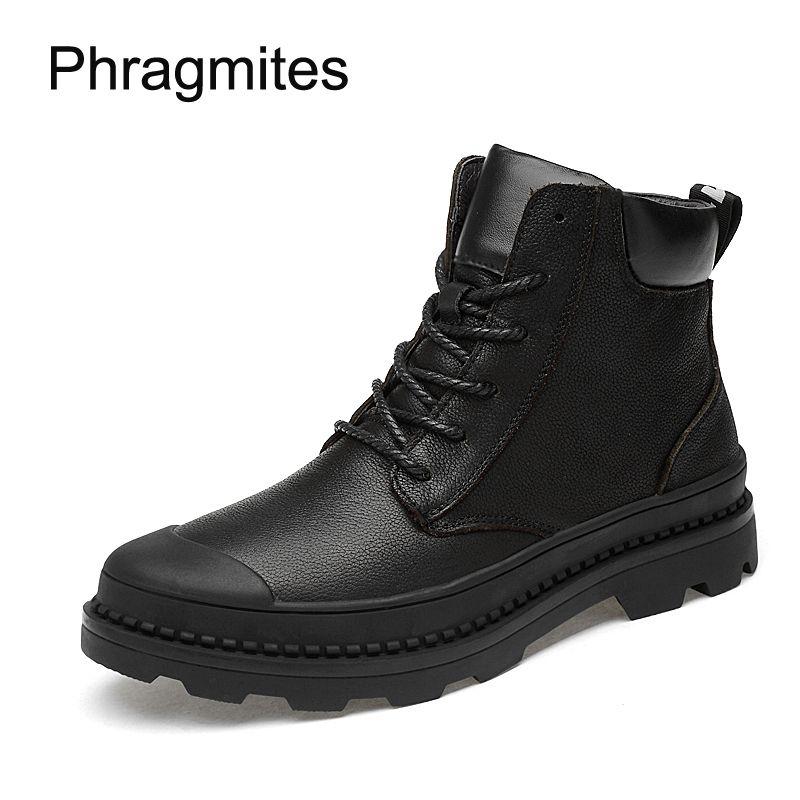 Phragmites размер 37-47 короткие армейские сапоги зима теплая botines mujer 2018 защиты ног работы safty сапоги мода прохладный черный botas