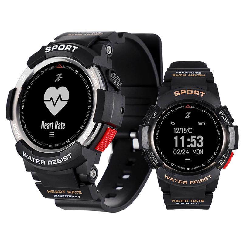 F6 Smart Watch IP68 wasserdicht Bluetooth Smart Armband Dynamisches Herzfrequenzmesser Sport Smart-Armbanduhr für Android IOS iPhone-Uhr