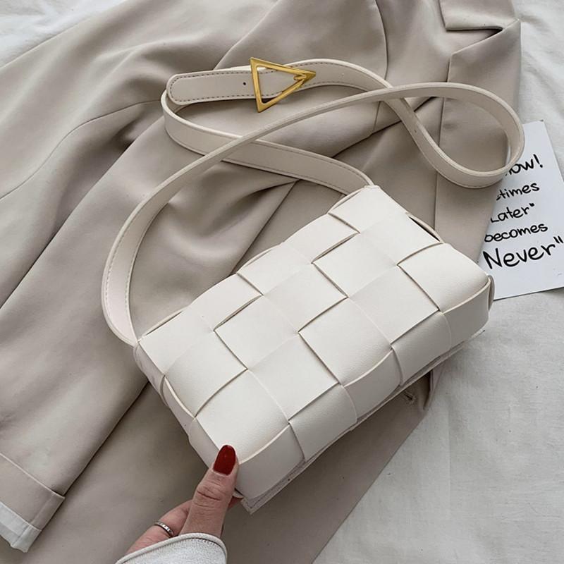 de las mujeres de diseño de moda tejido clásico Bolsa Bolsa de señoras del ocio Crossbody de tejer bolsas de mensajero versátiles bolsos de hombro