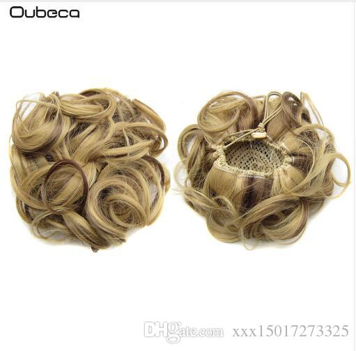 Synthetic Drawstring Hair Bun Curly Messy Hair Buns Dount Chignon Hairpiece Updo Cover Ponytail Extensions For Women