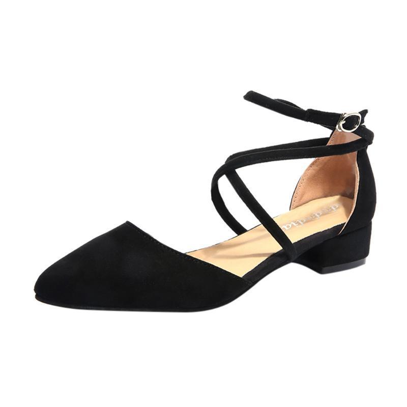 Sagace Schuh-Frauen-Mode-Sommer-Sandelholz-Frauen-beiläufige Punkt Toe Buckle Strap-Platz Heel Sandalen für Mädchen Med Heel-Schuhe