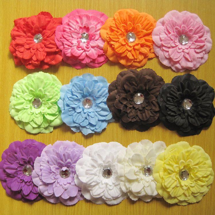 """Dziewczyna 4 """"Piwonia Kwiat Do Włosów Klips Baby Piękne Kwiaty Barrettes for Girl Headbands Headwear Akcesoria do włosów 50 sztuk"""