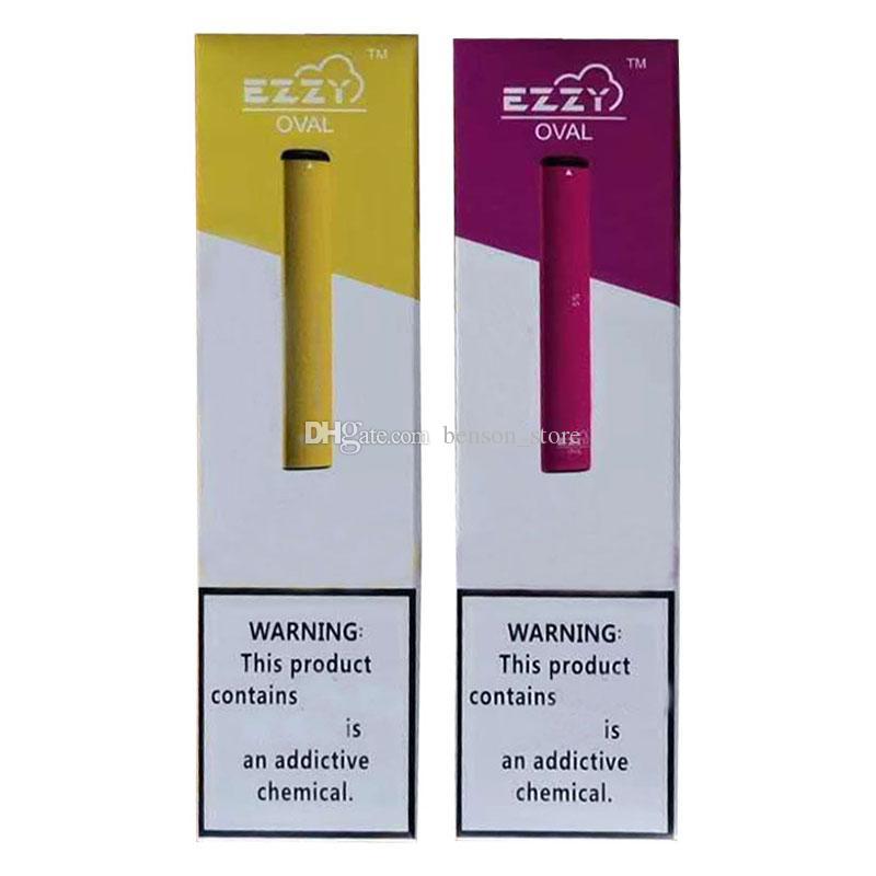 Новый Ezzy OVAL Одноразовые электронные сигареты Starter Kits 280mAh батареи 1,3 мл Масло Картриджи Упаковка Empty Vape Ручки устройства Бобы Испаритель тележки