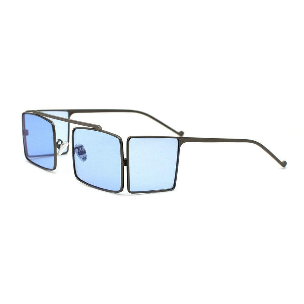 뜨거운 2019 새로운 패션 실드 스타일 펑크 선글라스 여성 남성 브랜드 디자인 사이드 메쉬 커버 남자 힙합 직사각형 태양 안경 NX