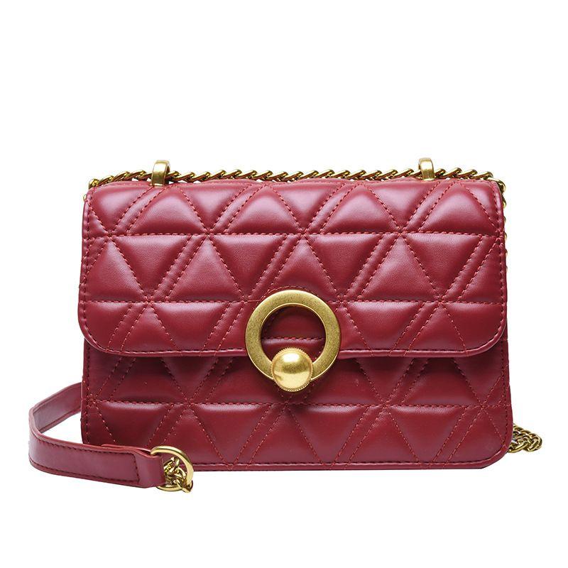 المعين سلسلة الكتف حقائب المرأة حقيبة مربع صغير حقيبة crossbody لسيدة الصلبة بو الجلود الشارع أكياس الأزياء WJJDZ