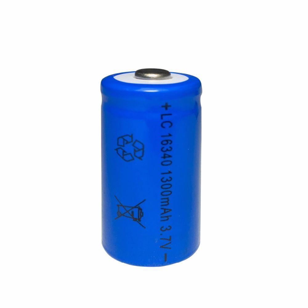 10pcs HG2 16340 Bateria Accus Recarregável CR123A Bateria LR123A 3.7V 1300mAh Lanterna Lanterna Removível Recarregável Lítio íon Bateria Duração