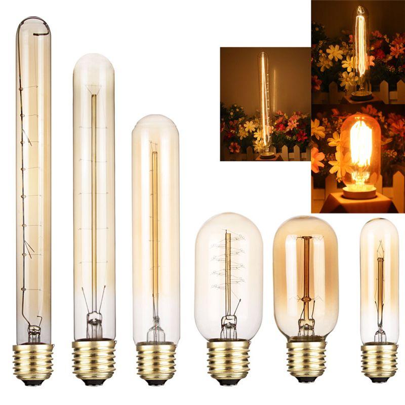 Retro Edison led light bulbs E27 40W 110V 220V T45 T10 T185 T225 T300 Ampoule Light Bulb Incandescent Lights Filament 2700K