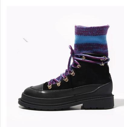2019 kadın calfskin spor ayakkabıları yarım bot, altın siyah beyaz Runner spor ayakkabıları kadın tasarımcının 19ss botları, boyut 34-41 WS02