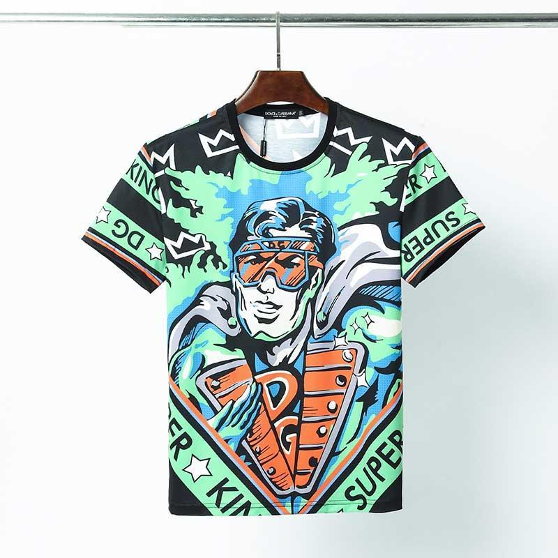 2020 новая мужская футболка высокого качества дизайнер футболка полосатых мужская хлопок новая двойной мужская футболка топы с короткими рукавами дышащего Soft