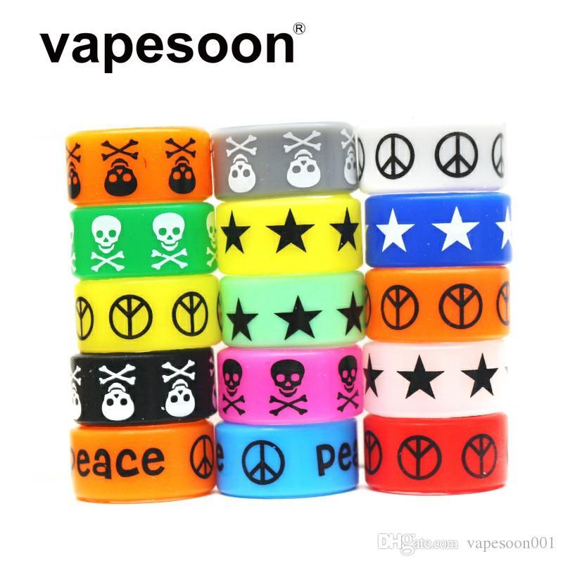 VapeSoon 1000pcs / lot Skull Style Vape Band Anello 24 * 12 * 2mm Anello antiscivolo Per Relx Anti-slip anello ecc