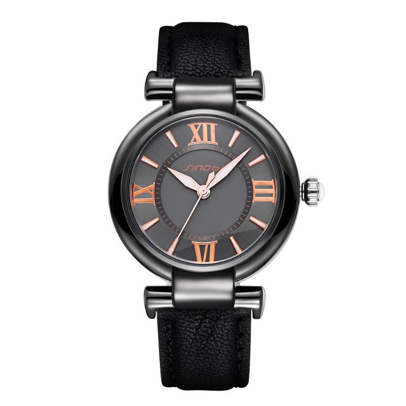 2020 Fashion Casual Ladies Watch Leather Strap Quartz Ladies Simple Watch Reloj Hombre