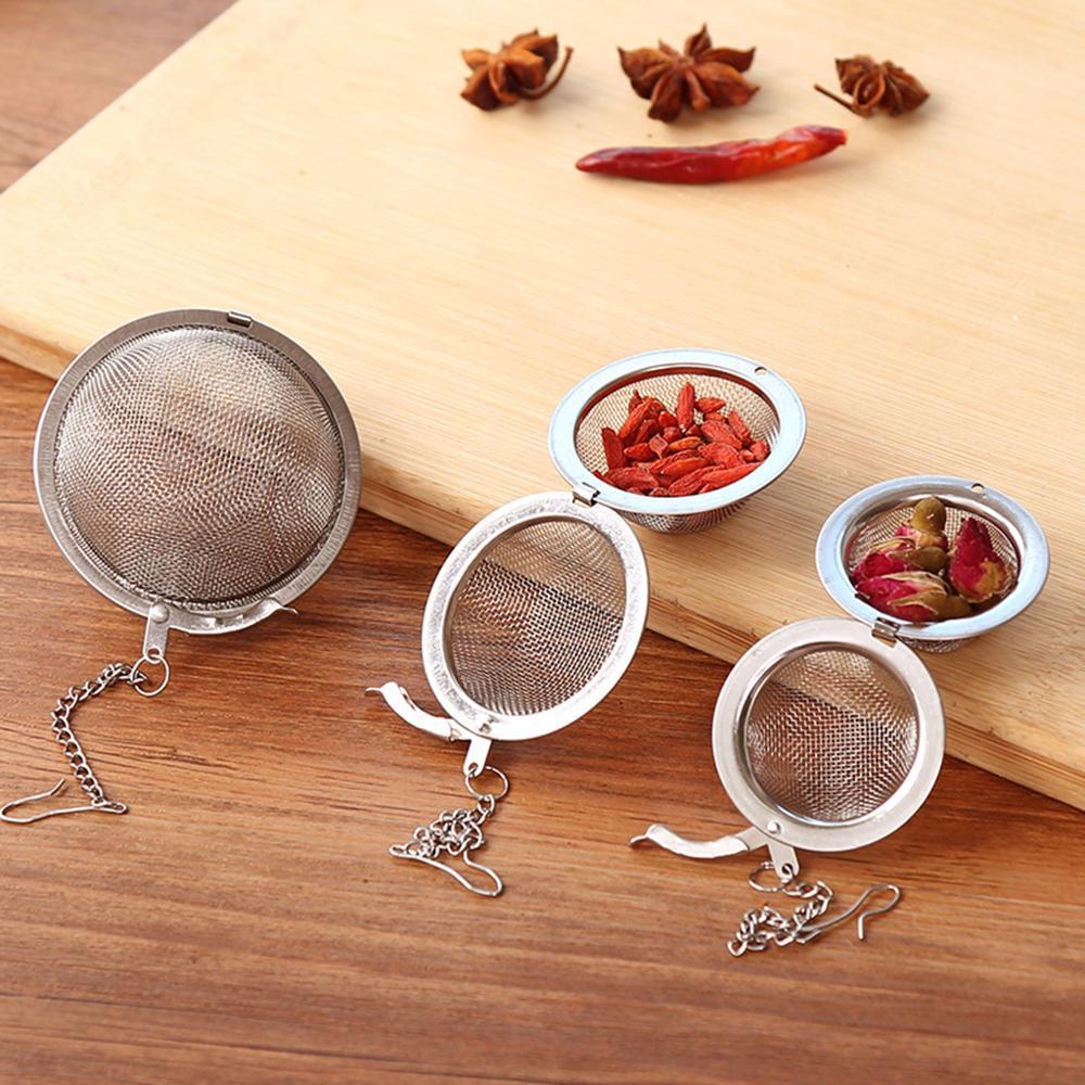 4.5 سنتيمتر الفولاذ المقاوم للصدأ الشاي infuser المجال قفل التوابل الكرة مصفاة شبكة تصفية مصفاة اكسسوارات المطبخ