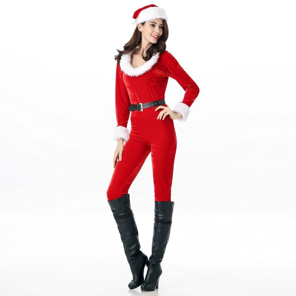 Christmas Jumpsuit Womens.2019 Christmas Women S Jumpsuit Hat Belt Trousers Nightclub Babes Costumes Women S Suede Festival Stage Clothes From Cutelove66 Price Dhgate Com