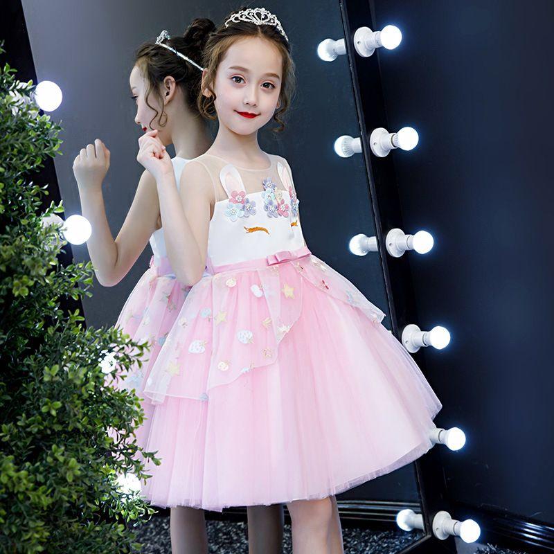 Новое платье для девочек Вышивка бальное платье Baby Girl Princess День рождения Платья для вечеринок Костюмы Детская одежда