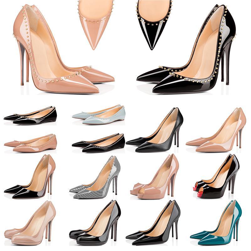 Sneaker Designer Chaussures So Kate Styles Chaussures à Talons Rouges Bas Talons Luxe 12CM 14CM Cuir Véritable Point Toe Pumps Taille 35-42
