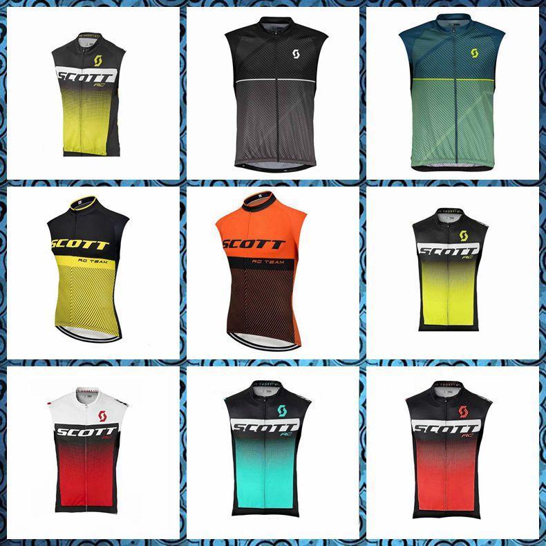 2019 Nouvelle équipe SCOTT cyclisme maillot sans manches gilet de vélo de montagne vêtements à séchage rapide respirant en plein air vélo U51010