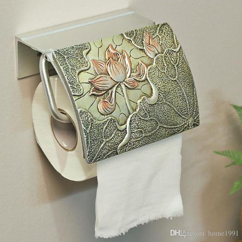 새로운 화장지 홀더 중국 스타일 위생 도자기 화장실 종이 수건 걸이 화장실 롤 용지 홀더 욕실 방수 티슈 박스