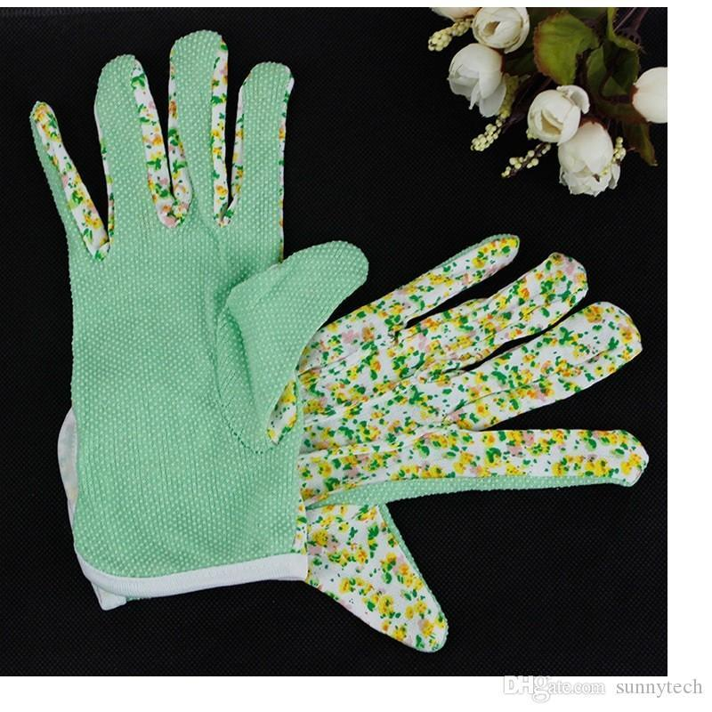 100% Cotton Antiskid Personal Workplace Safety Soft Jersey Women Gardening Working Gloves 4 colors Free Shipping WA0592