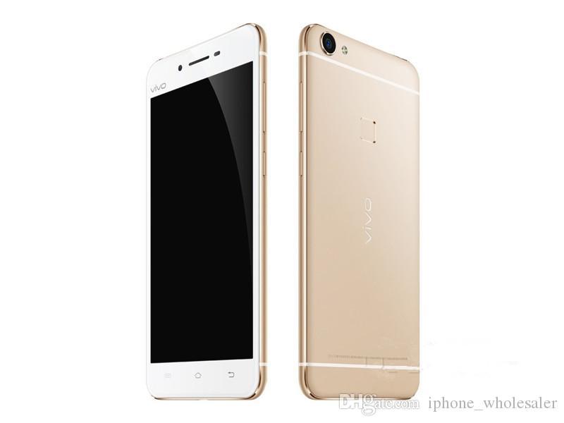 Orijinal Vivo X6 4G LTE Mobil Telefon Snapdragon 615 Octa Çekirdek 4GB RAM 32GB 64GB ROM Android 5.2 inç 13 MP Parmak İzi Kimlik Akıllı Cep Telefonu
