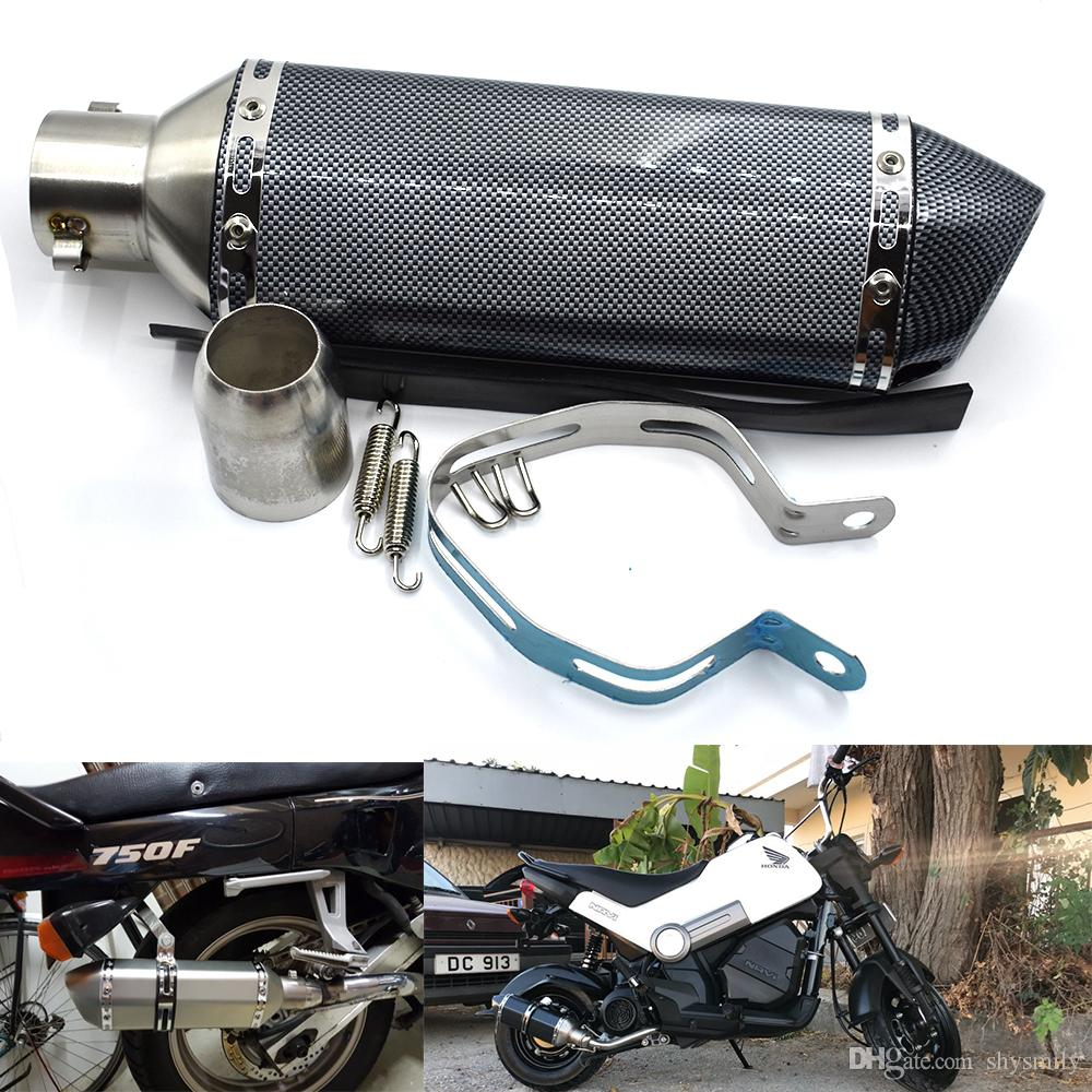 For 4 Color 51MM Universal Modified Escape Motorcycle Akrapovic Exhaust Motorcycle Scooter Dirt Bike Silencer Pipe YZF600 R6 YZF1000 R1 CBR