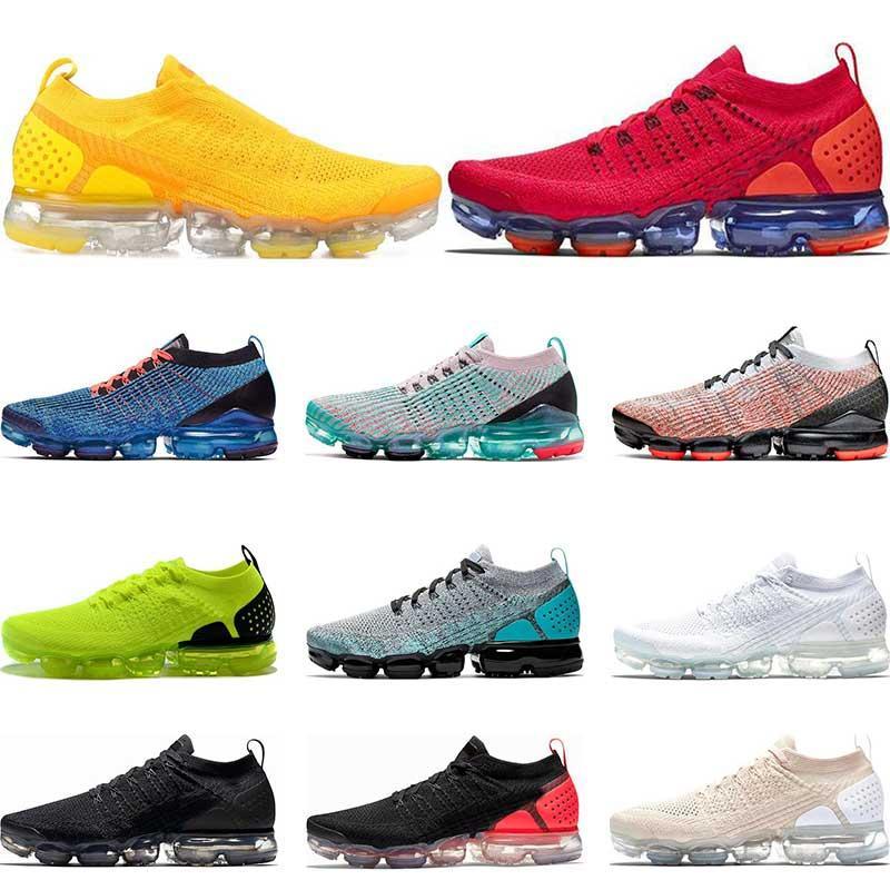 2019 Qualité Femmes Hommes Chaussures de course Coussin Jaune Chaussures de tennis Triple Blanc Noir Rouge Orbit Sports de plein air Formateurs 36-45