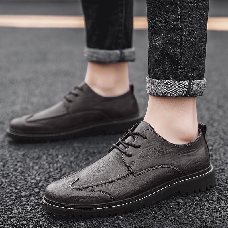 Venda quente Casual Shoes Mens Anti Slip Couro Shoes Men boa qualidade Homens Moda Sneakers confortável Marca de sapatos
