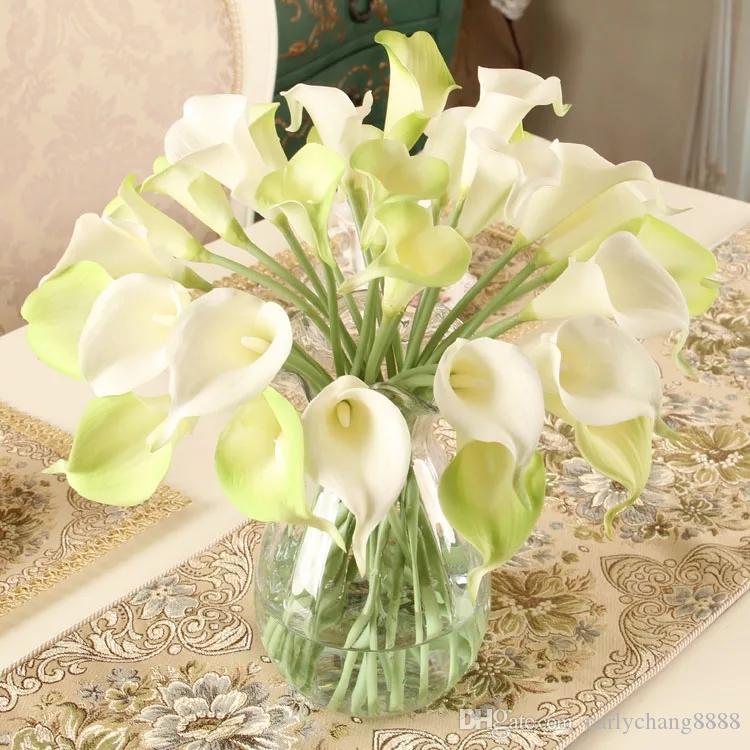 PU Calla Lily fleur artificielle Bouquet Real Touch Décorations festives faux mariage Fleurs Décoration d'intérieur