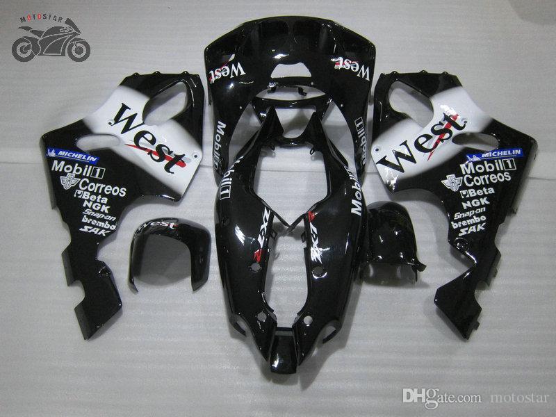 Customize Black WEST Fairing kit for KAWASAKI Ninja ZX7R ZX-7R 96-03 ZX 7R 1996-2003 aftermarket road sport ABS plastic fairings kit