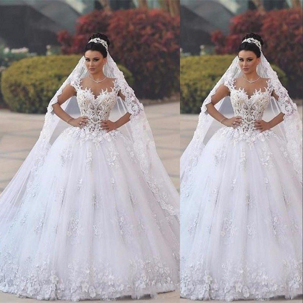 Nueva barato para jeanpaul Kalül catedral velos de novia de lujo largo apliques por encargo de marfil blanca de alta calidad de boda Velos 3 M