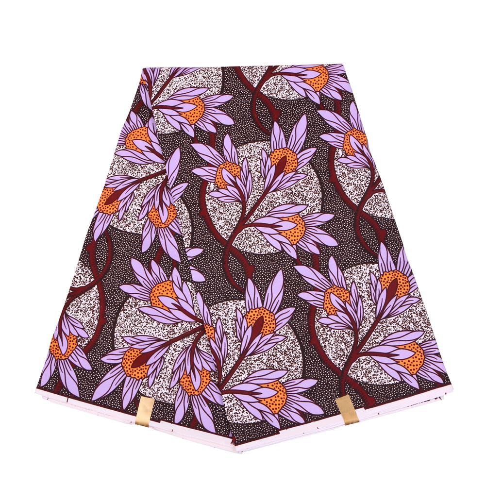 2020 Ankara Полиэстер Wax Печать Ткань Бинт Real Воск высокого качество 6 ярдов 2019 Африканской Ткань для платья партии FP6130