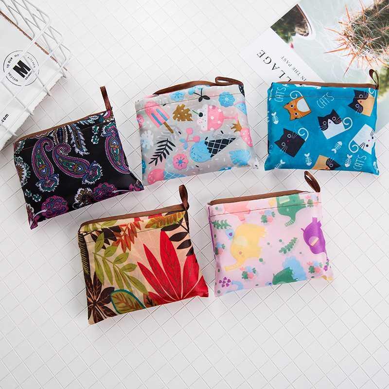 Hot étanche réutilisable Sacs femmes pliable sac fourre-tout en tissu Portable Eco Sac d'épicerie pliant Grand Sacs à main Capacité