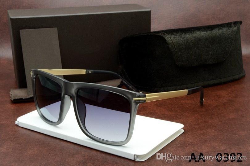 Luxe haut qualtiy Nouvelle Mode 0392 0394 Tom Lunettes de soleil pour homme femme Erika Lunettes ford Designer marque lunettes de soleil avec boite originale 5178 à