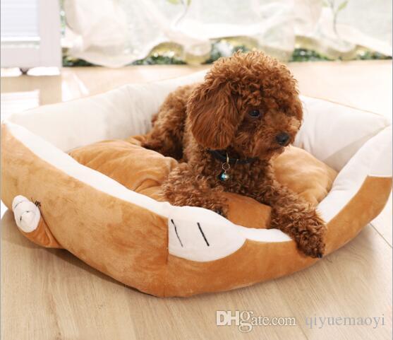 Mascota amortiguador cama fuentes del perro de perro de lujo sofá-cama del gato del perro amortiguador del animal doméstico gato nido de peluche lavables estera del perrito marrón rectabgle