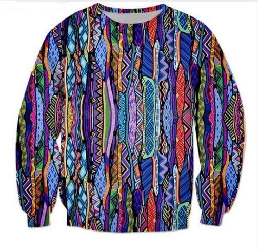 جديد الموضة النسائية / رجل 90's ريترو مضحك 3d طباعة crewneck البلوز البلوز النساء / الرجال الأزياء والملابس AABB017