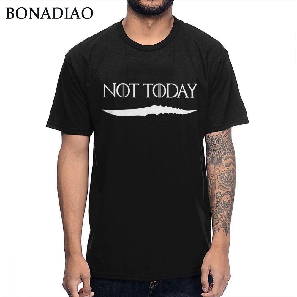 Not Today Arya Stark Game Of Thrones T Shirt Faceless Men The House Of Black And White Novelty Design T-shirt Y19060601