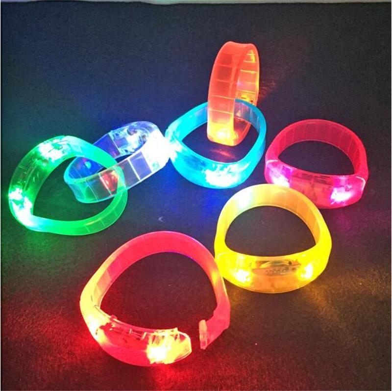 Led Shaking Flashing Bracelet Light Up Bangle Wristband Night Club Activity Party Bar Disco Music Concert Cheer