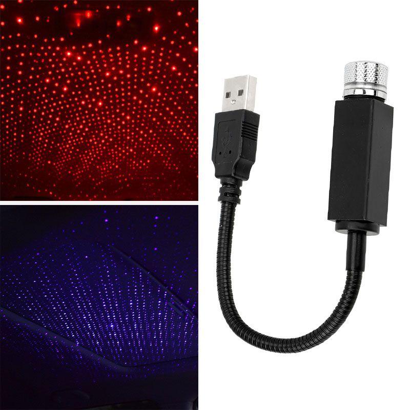 Автомобиль USB Star потолочное освещение автомобилей на крыше Свет USB Night Light Romantic Атмосфера Новогоднее украшение новый год подарок свет