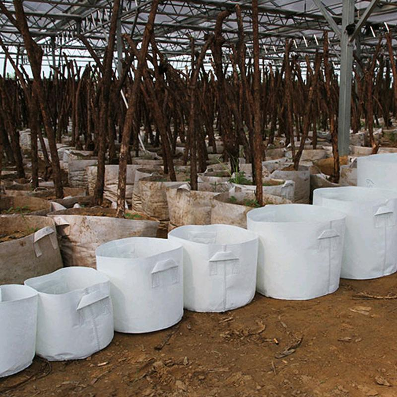 تنمو أكياس غير المنسوجة النسيج شجرة تنمو الأواني حقيبة والتعامل مع النباتات جذر الحاويات الحقيبة الشتلات الزهرية حديقة محبوكة حقائب GGA2108