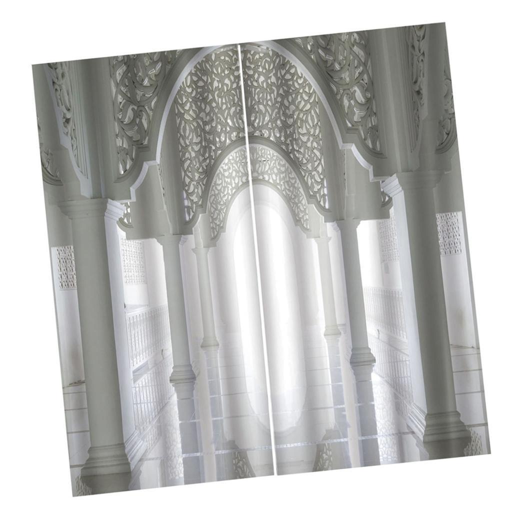 Digital gedruckte 3D Vorhang Wohnzimmer Schlafzimmer Vorhänge Panel 2
