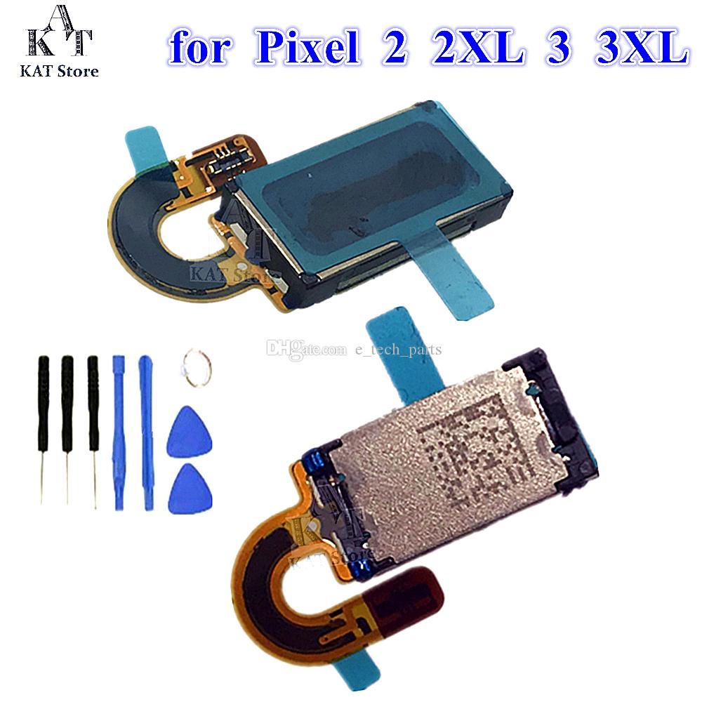لجوجل بكسل 2 3 3A XL رئيس السماعة استقبال الأذن سماعات الهاتف الخليوي إصلاح استبدال لبكسل 2XL رئيس الكابلات المرنة 10PCS