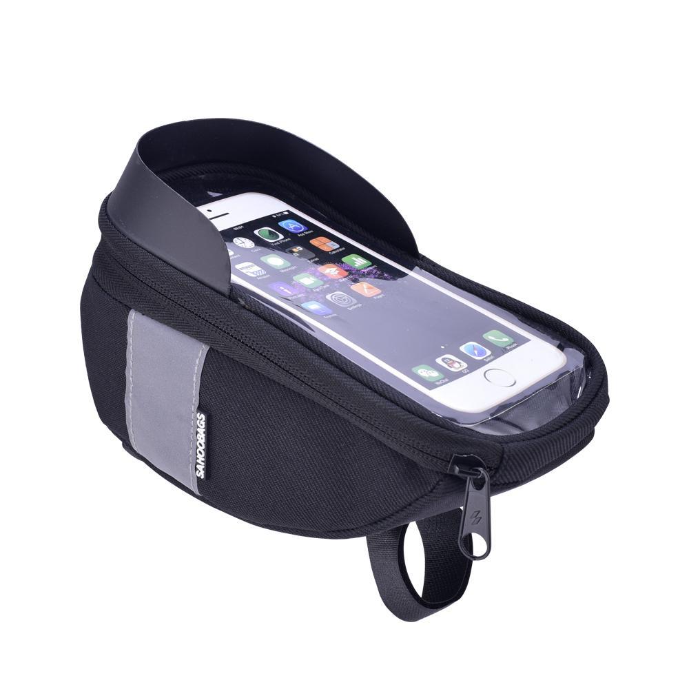 6.5in Telefon için Roswheel Sahoo 112003 Bisiklet Bisiklet Bisiklet Baş Tüp Gidon Cep Cep Telefonu Çanta Kılıf Tutucu Vaka Pannier