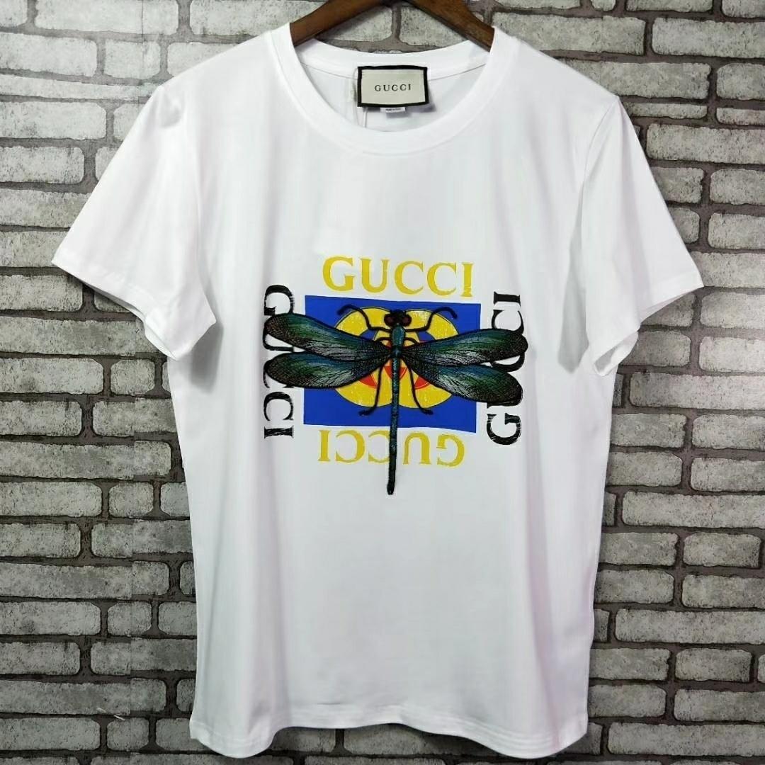 Femmina bella moda T-shirt e comfort estivo manica corta edizione di stampa della lettera che basa 031.402